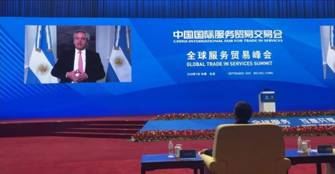 El Presidente Alberto Fernández participó, por invitación de su par Xi Jinping, de la apertura de la Feria Internacional de China para el Comercio de Servicios (CIFTIS), que se celebró en Beijing.