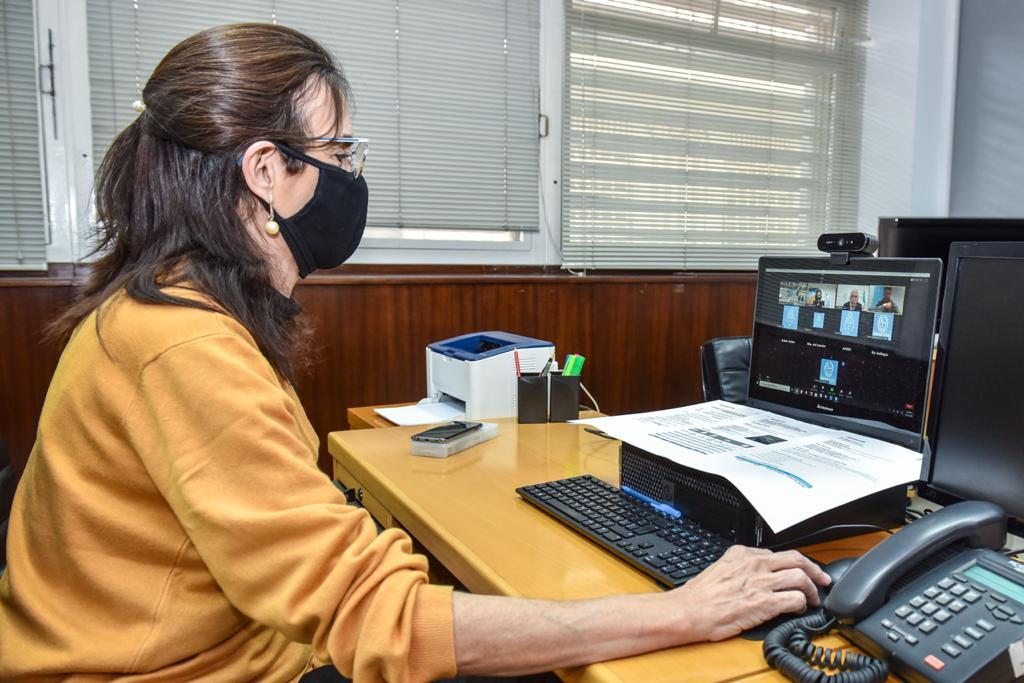 María Eugenia Bielsa, desde su despacho en Buenos Aires.