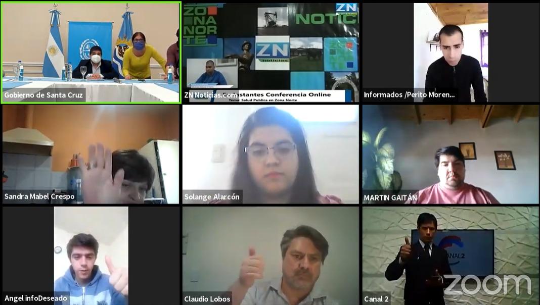 Solange Alarcón periodista de La Opinión Zona Norte participó en la conferencia de prensa encabezada por el ministro de Salud, Claudio García.