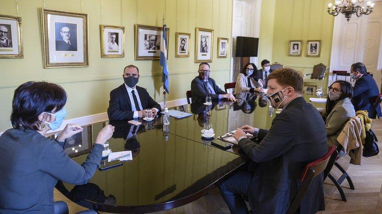 El Gabinete Económico reunido en Casa Rosada.