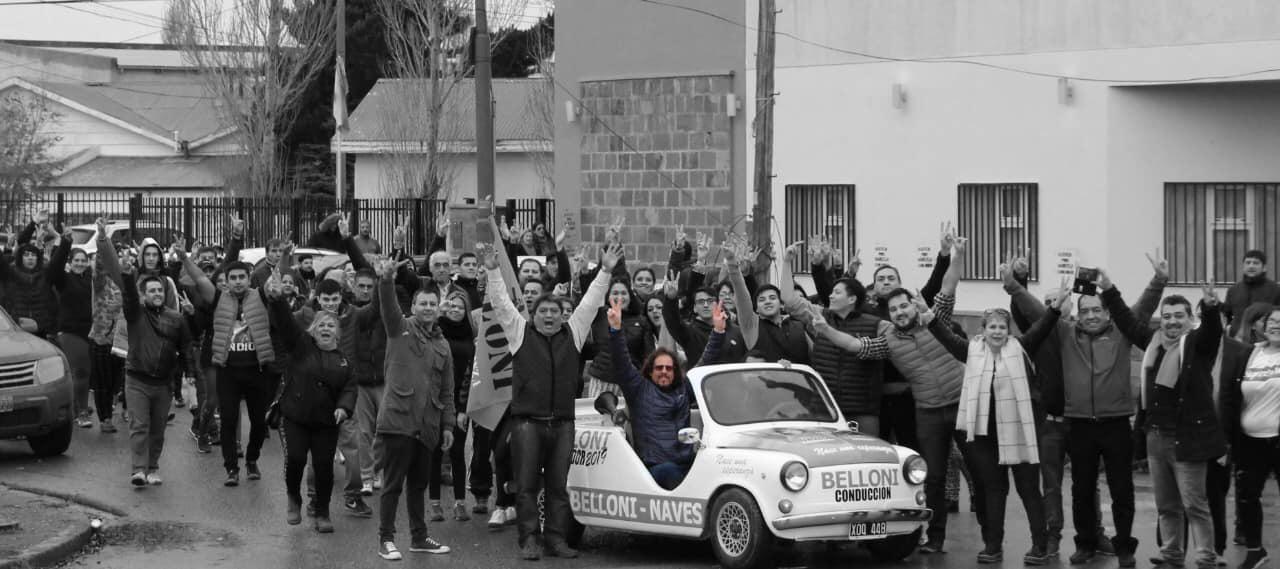 Durante la campana a la gobernación de Javier Belloni, en 2019