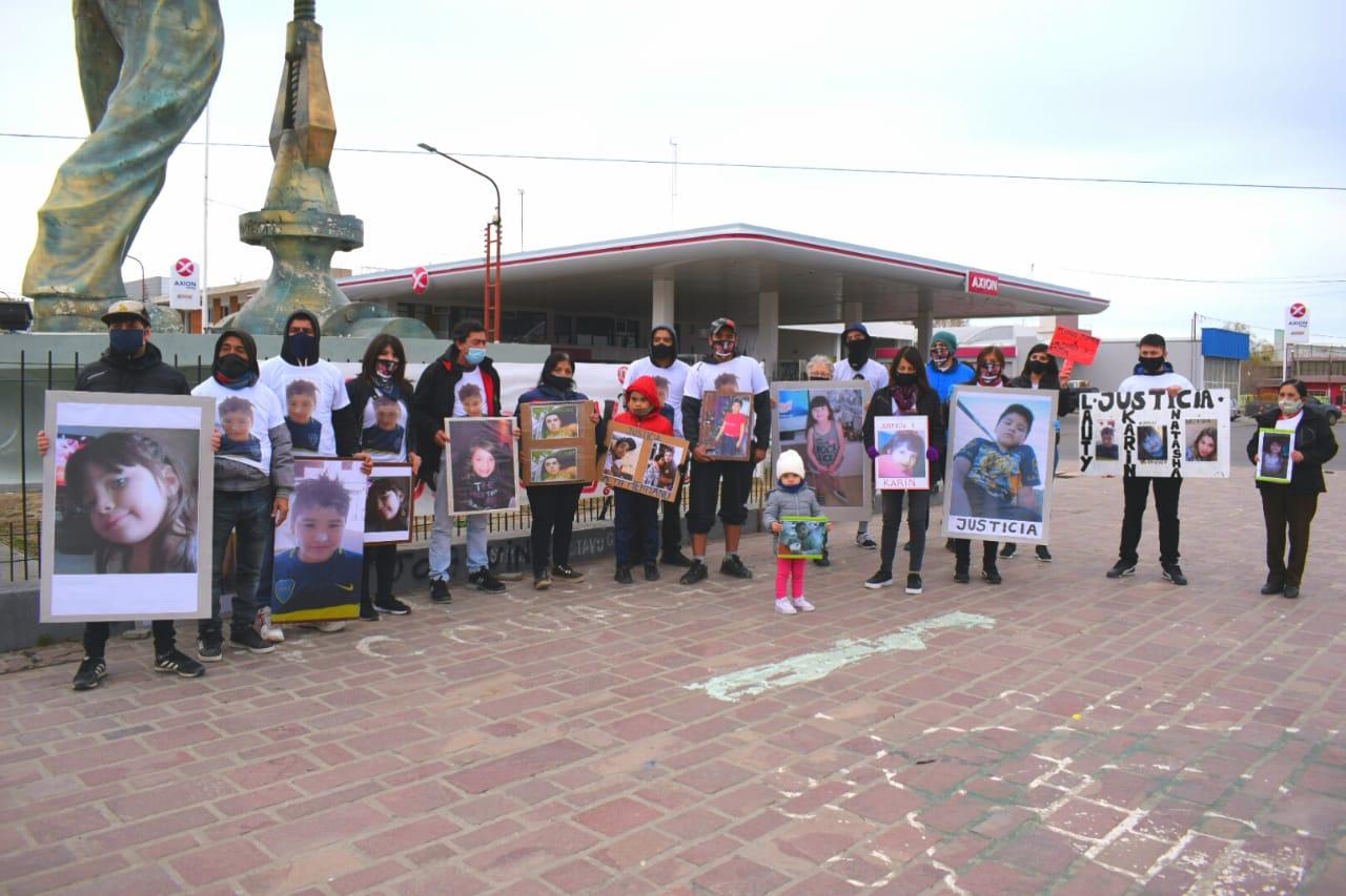 El pedido de justicia culminó en El Gorosito. FOTO: DAVID CAPITANELLI