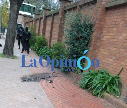 El objeto fue arrojado desde la calle Malaver