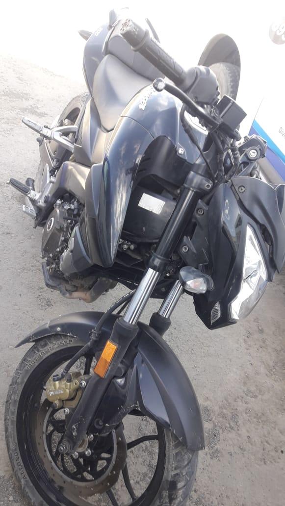 La moto secuestrada.
