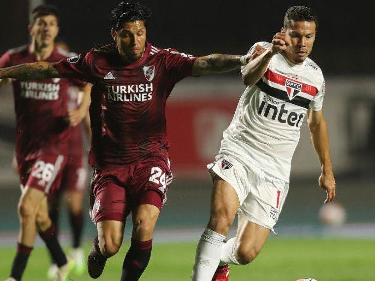 San Pablo compartió el grupo de Copa Libertadores con River.