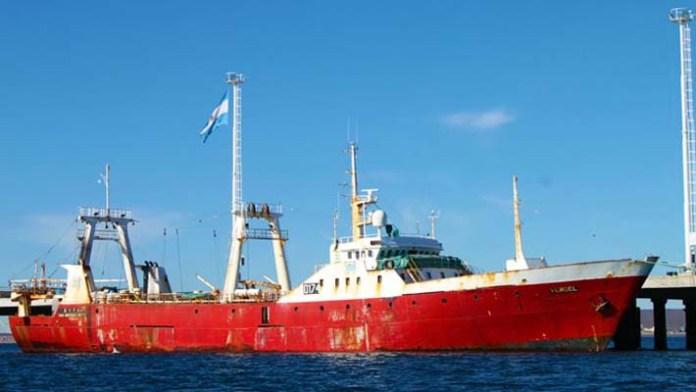La ambarcación 'Verdel' llegó desde Mar del Plata a las costas de la Patagonia.