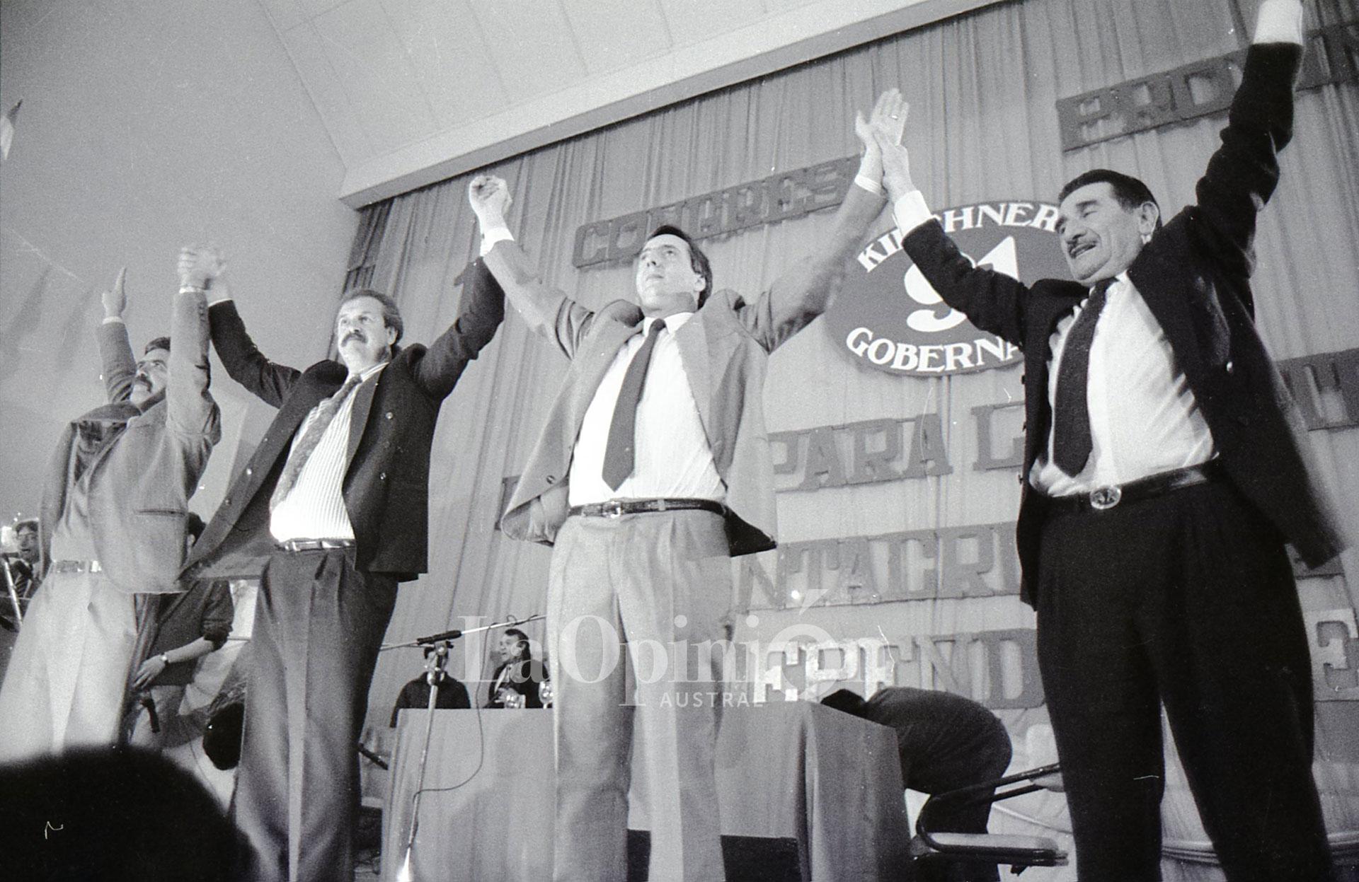 1991. Néstor Kirchner alcanza la gobernación con el 61% de los votos