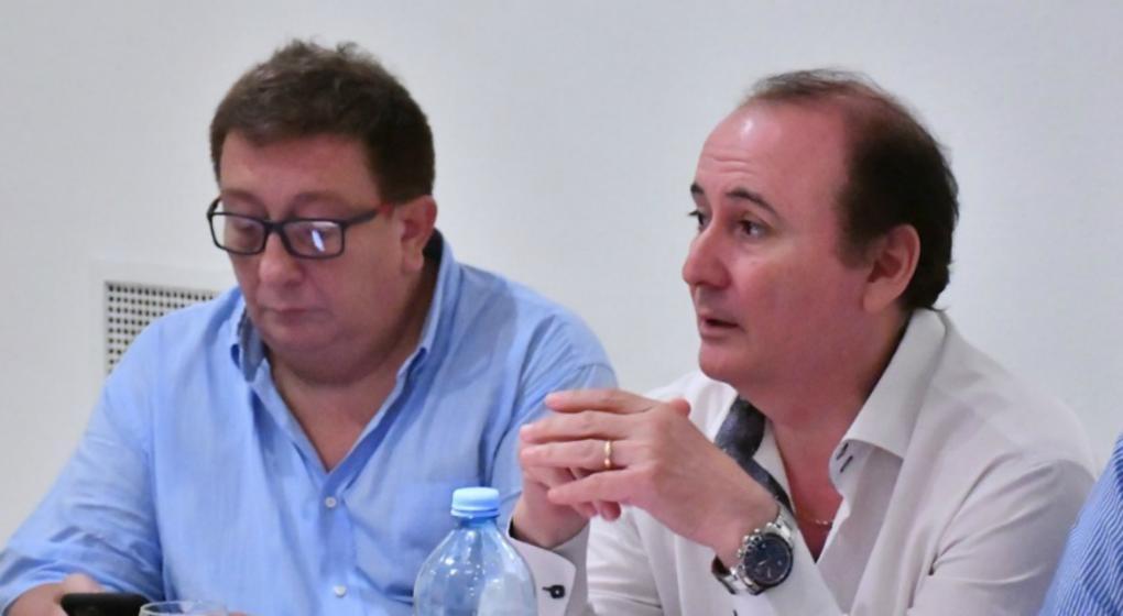Al frente. Fabián Borro, presidente de la CABB, y Gerardo Montenegro, titular de la AdC. (Prensa AdC)