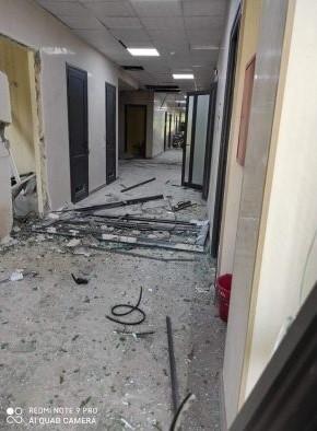Múltiples destrozos en instalaciones hospitalarias.