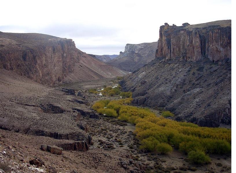 Valle del río Pinturas.