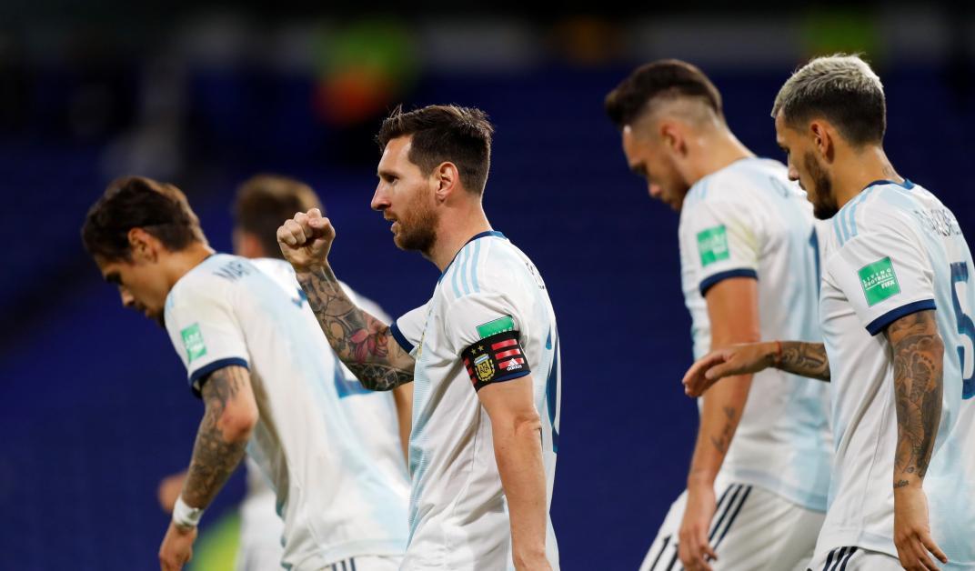 Puño apretado: Messi convirtió el 1 a 0 para la victoria ante Ecuador