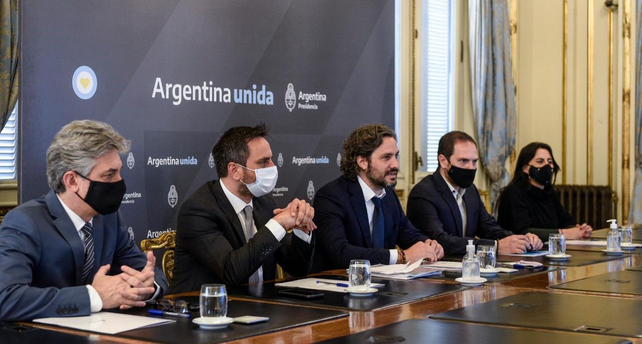 Sergio Federovisky, Santiago Cafiero, Martín Gil, Juan Cabandié y Soledad Cantero.