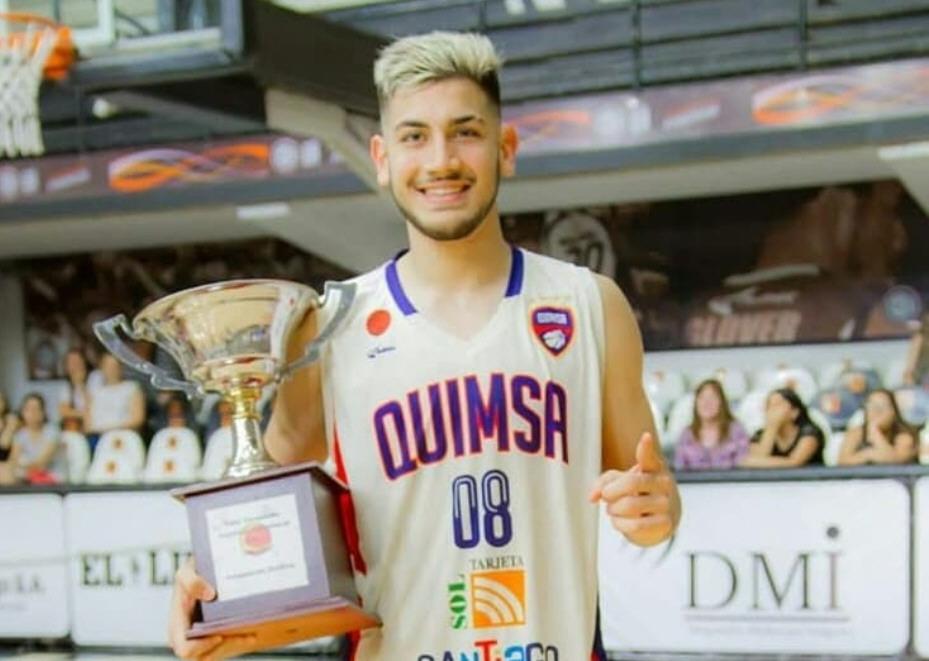Tomás se coronó campeón U19 con Quimsa.