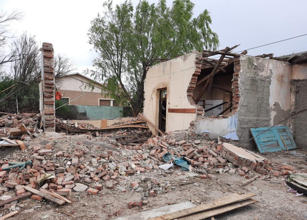 La excomisaría de San Julián fue demolida y recién hoy quieren declararla patrimonio.