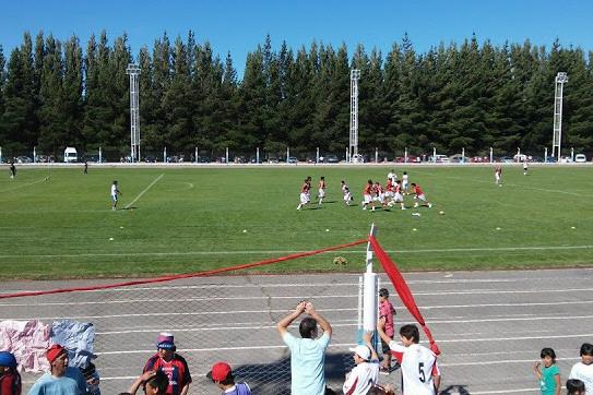 Estadio municipal de Los Antiguos.