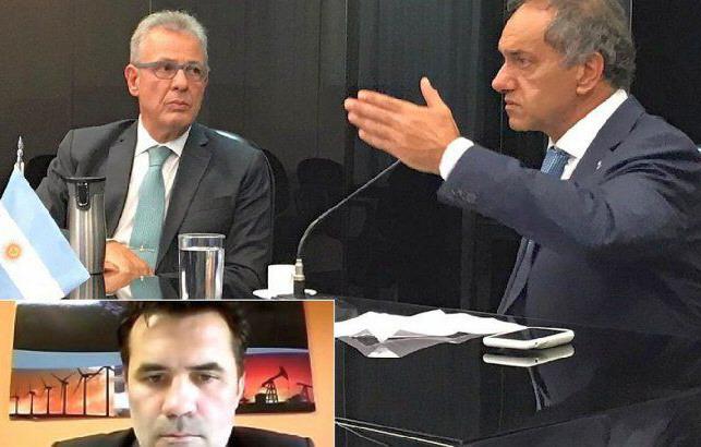 El encuentro lo encabezaron Daniel Scioli y el ministro brasilero Bento Albuquerque. FOTO: EMBAJADA ARGENTINA EN BRASIL