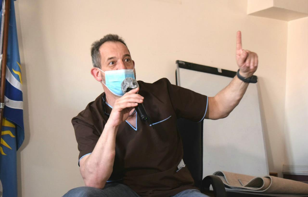 Médico Leonardo Riera, coordinador en Zona Norte del Ministerio de Salud.