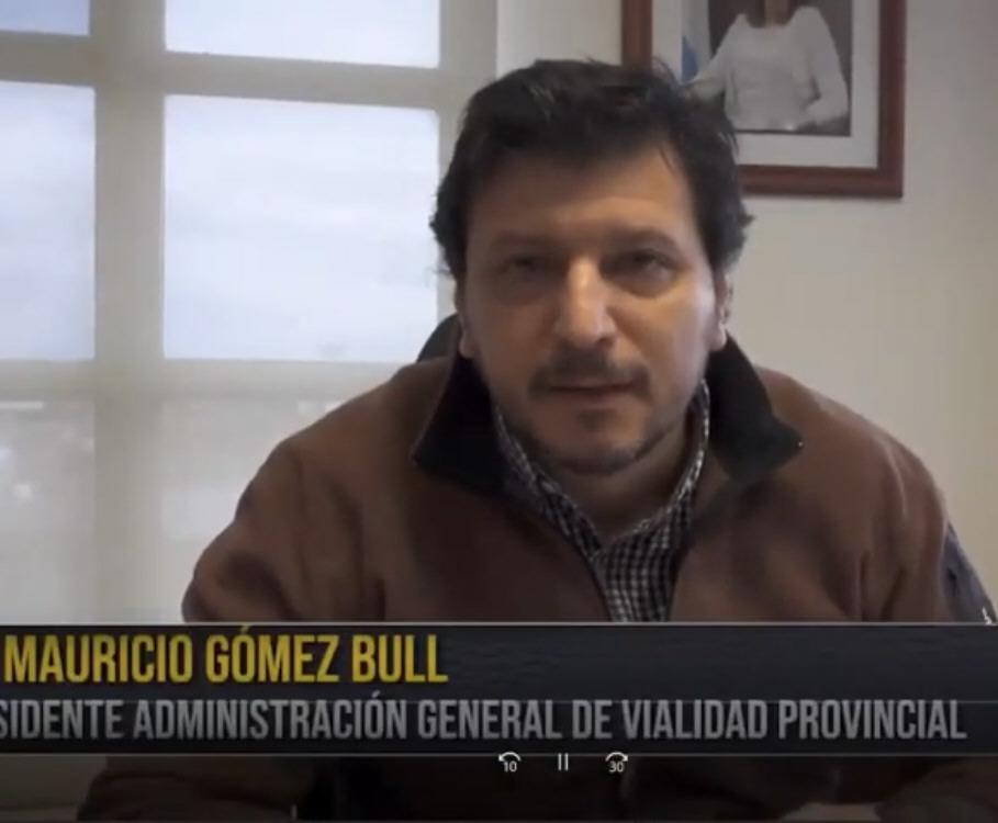 Mauricio Gómez Bull, presidente de Vialidad Provincial.