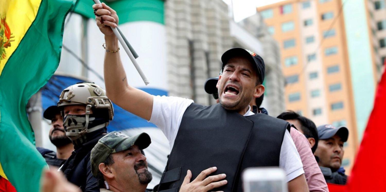 Luis Fernando Camacho, candidato de Creemos.
