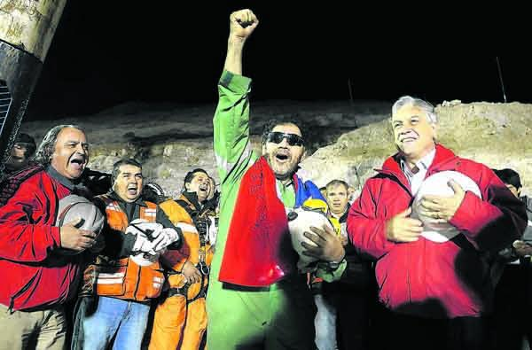 Luis Urzúa, el último minero rescatado.