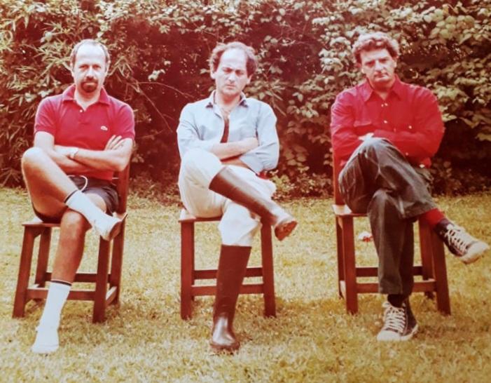 Hace 47 años, Alfredo había alquilado una quinta en Del Viso con Jorge de Luján Gutierrez y Chiche Gelblung. Tres amigos. FOTO: MARCELA LOVEY
