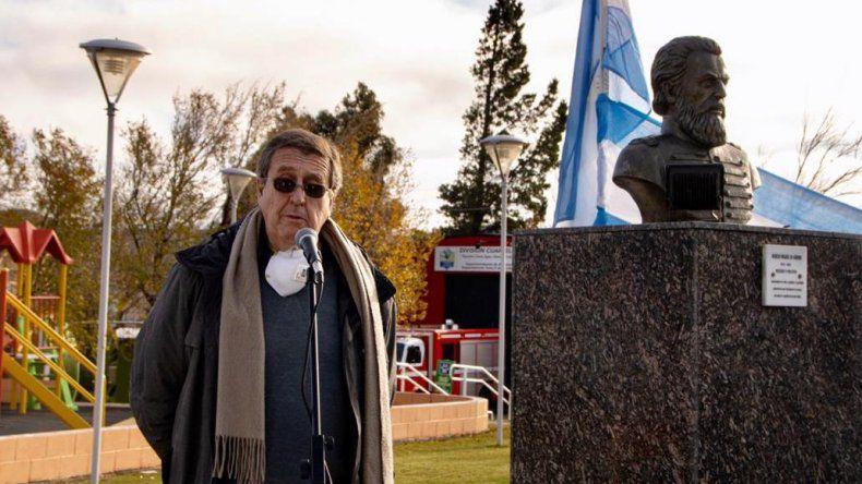 Carlos Lisoni, secretario general de la Comisión de Fomento de Cañadón Seco.