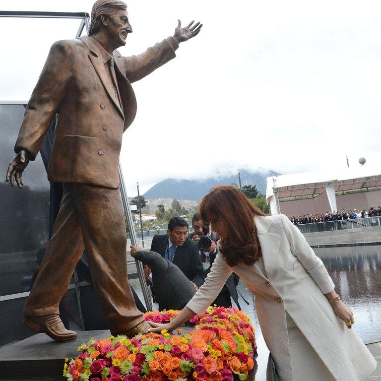El monumento a Néstor Kirchner será reubicado en el Centro Cultural Kirchner.