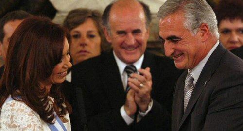 Cristina Kirchner junto a Ramón Granero.
