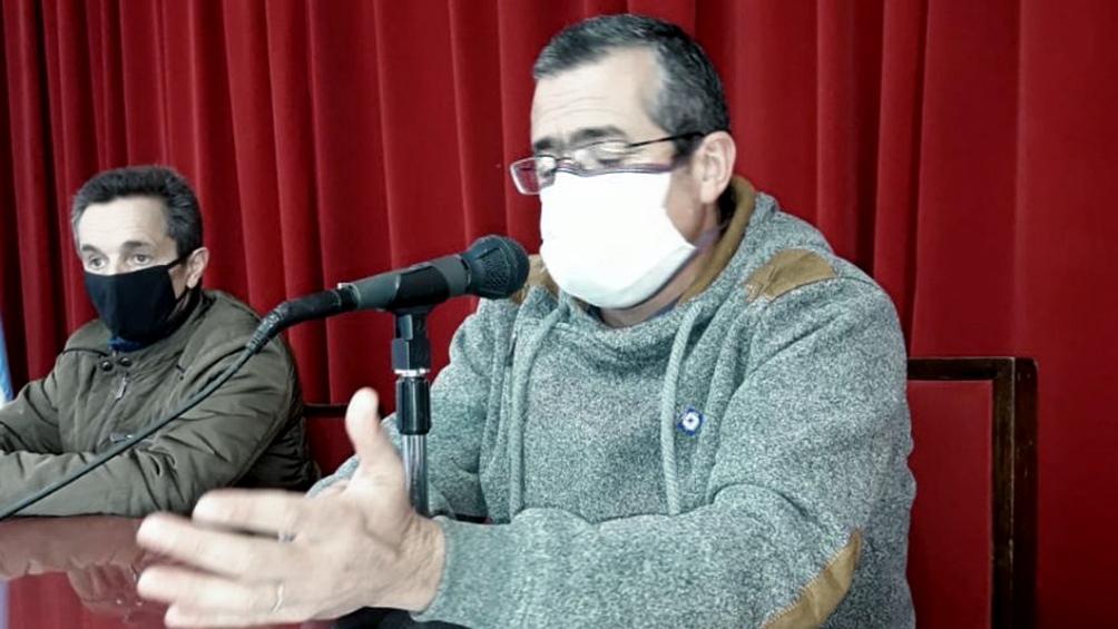 Suescun dio una conferencia de prensa tras la denuncia.