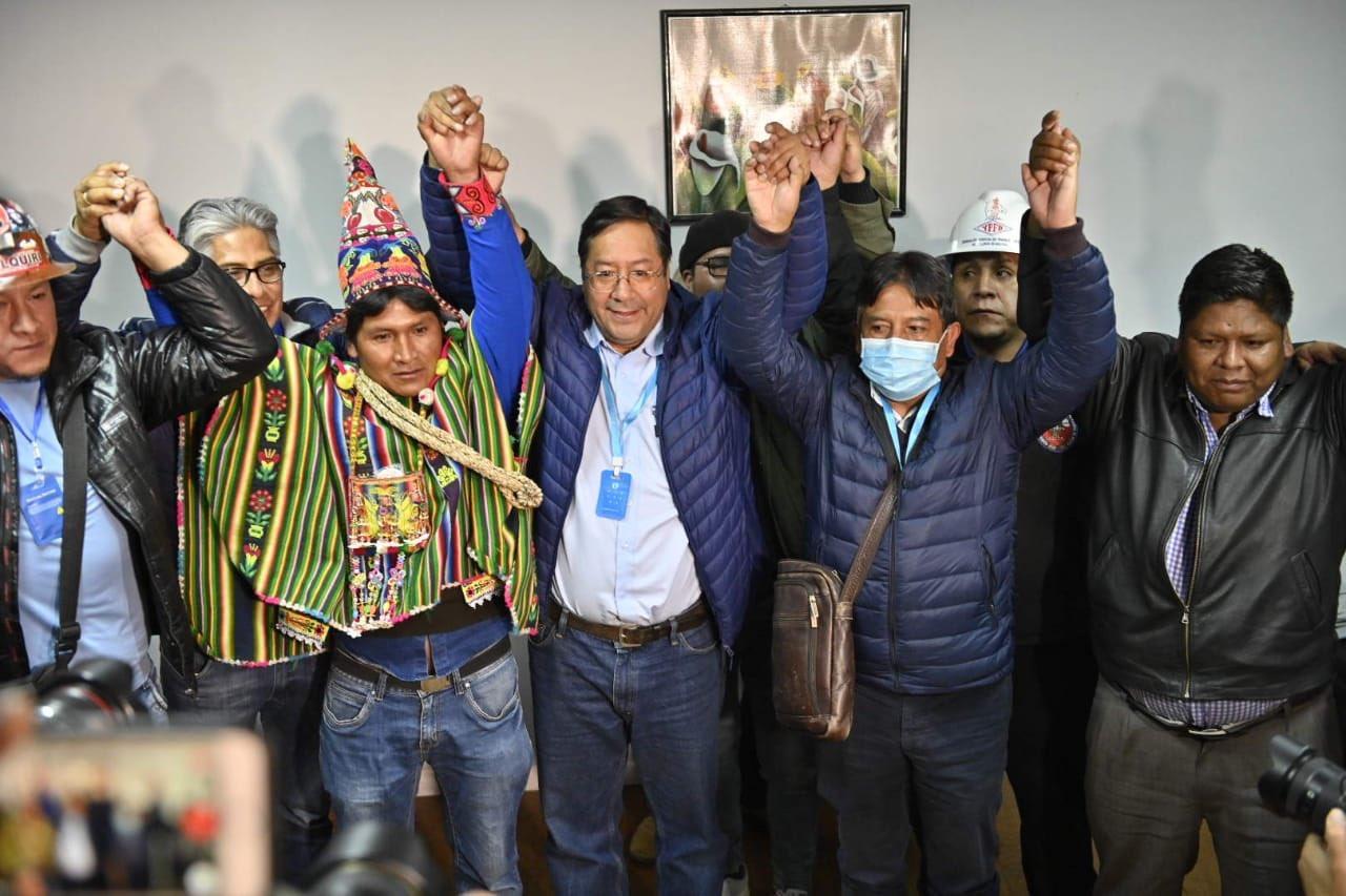 Luis Arce, presidente electo en Bolivia.