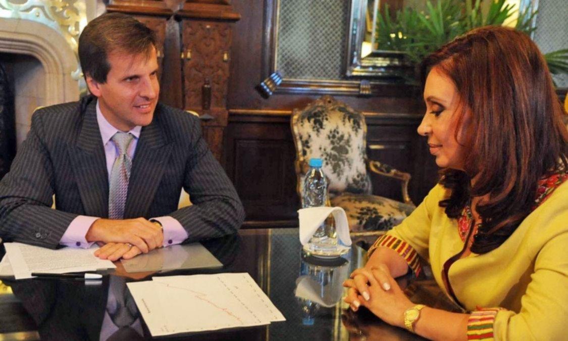 Martín Redrado junto a Cristina Fernández de Kirchner.