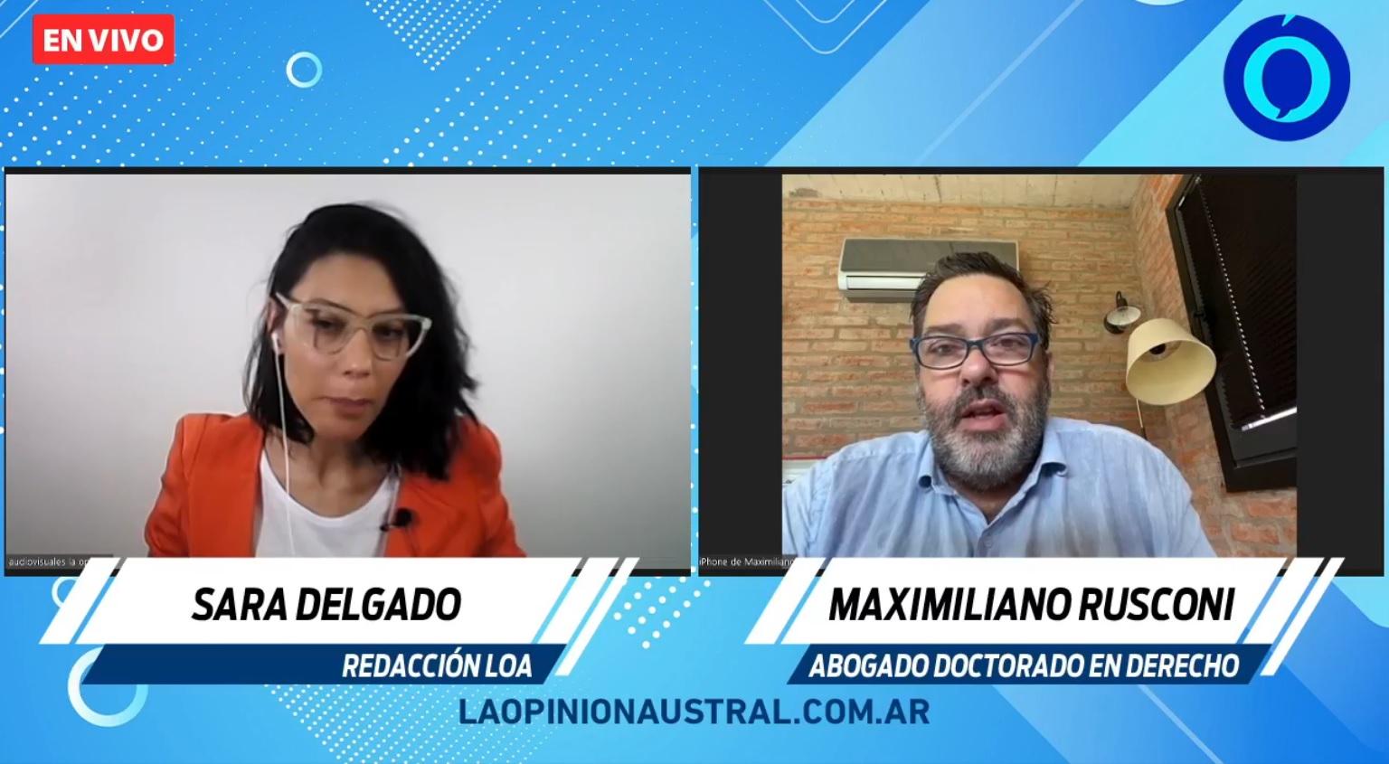 Entrevista exclusiva de La Opinión Austral al abogado Maximiliano Rusconi