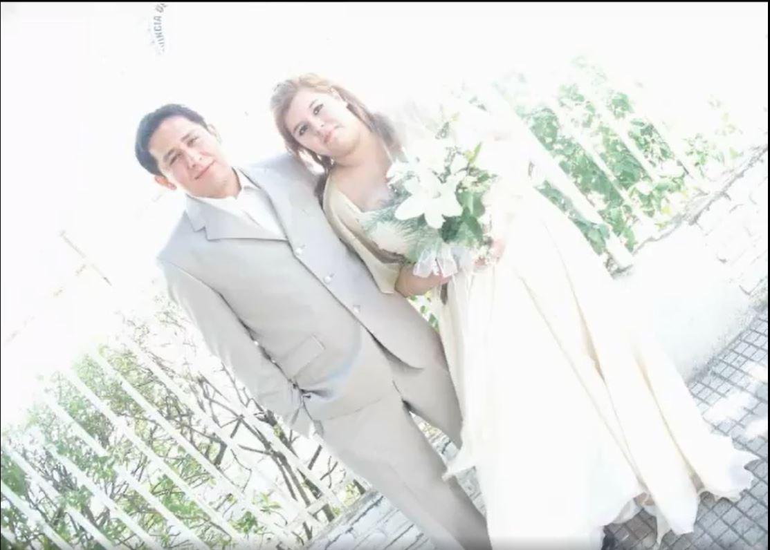 Sebastián Cruz y Noelia Fuenzalida, hace 9 años, cuando se casaron.