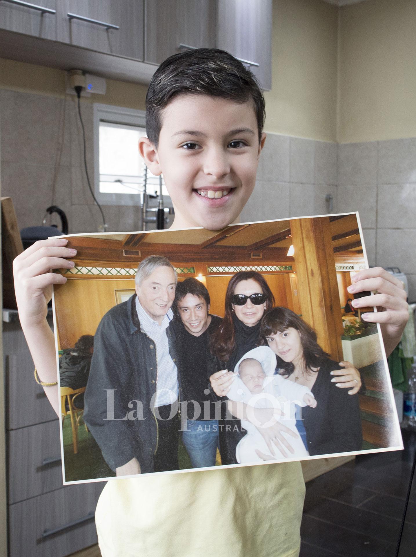 Matías tenía semanas cuando conoció a Néstor y a Cristina en el Hotel Santa Cruz, dos días antes de la muerte del expresidente.