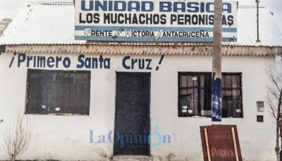 1987. La Unidad Básica 'Los Muchachos Peronistas' en el barrio del Carmen. Ahora, es una verdulería. FOTO: ARCHIVO LA OPINIÓN AUSTRAL.
