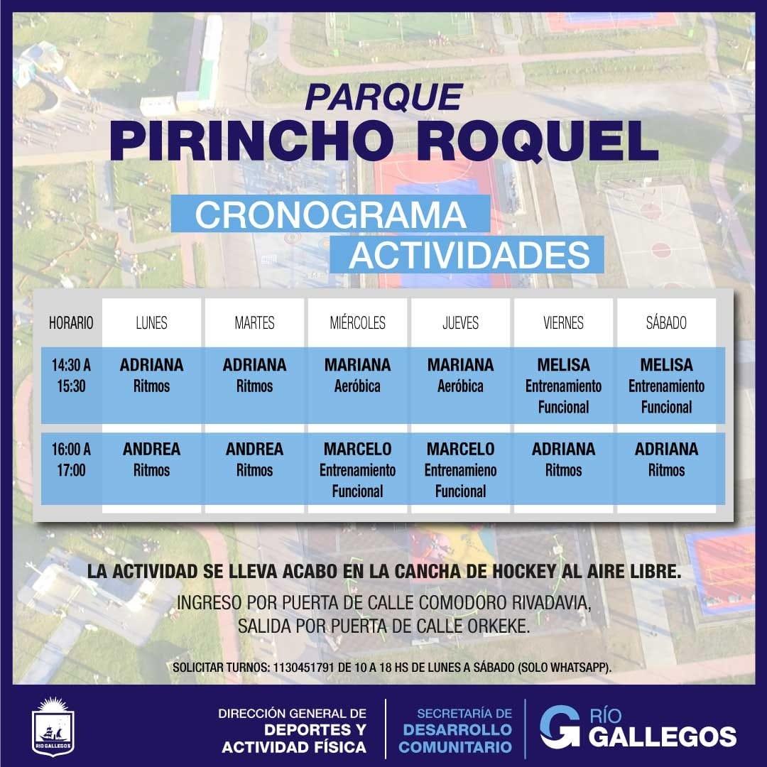 Las actividades en el Parque 'Pirincho Roquel'
