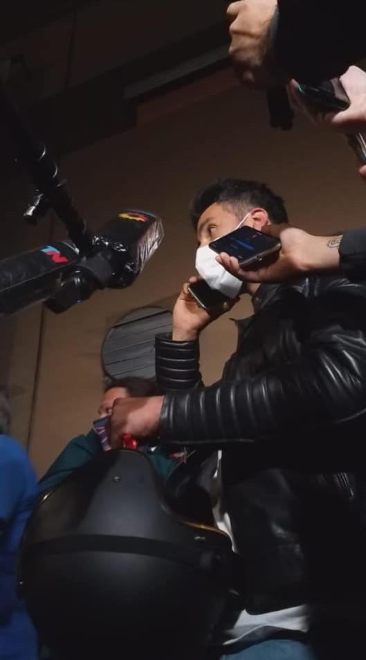 Leopoldo Luque habló con la prensa tras dejar el hospital.