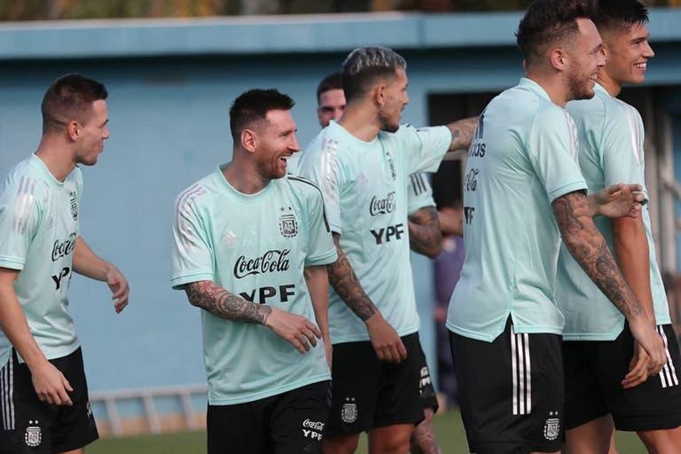 La sonrisa de Lionel y companía en los entrenamientos.