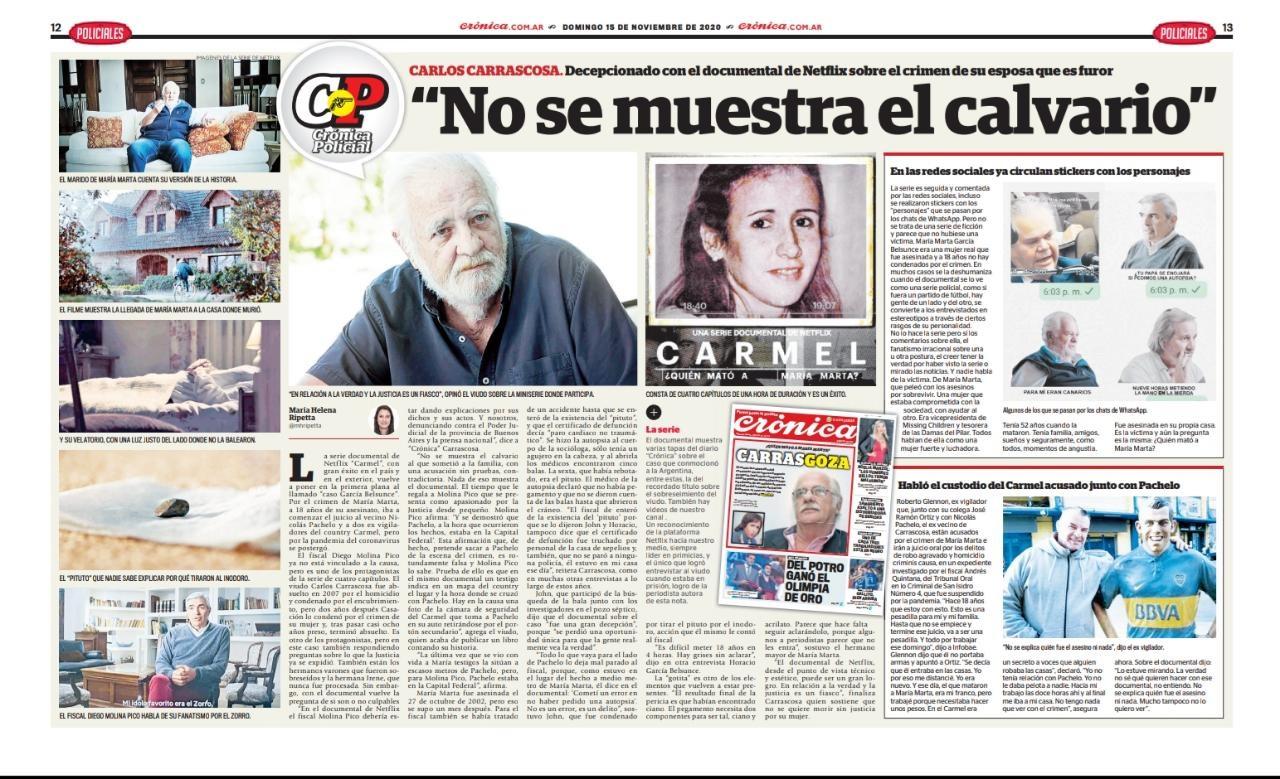 Carlos Carrascosa. FOTO: DIARIO CRÓNICA