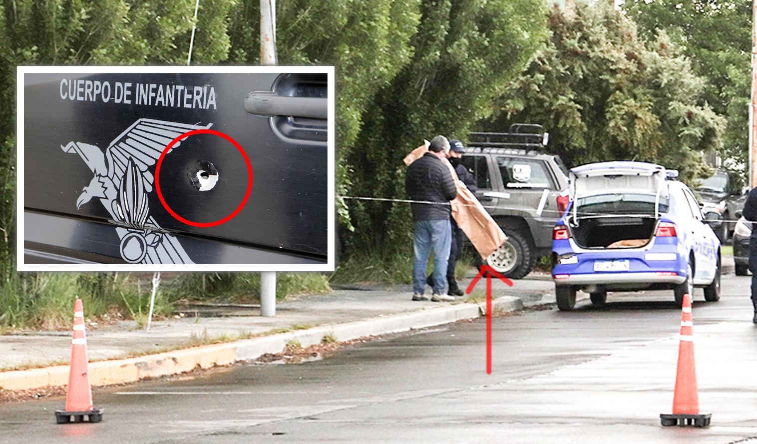 Puebla se tiroteó afuera de su casa en el barrio Jardín de Río Gallegos con la Policía la mañana del 22 de noviembre.