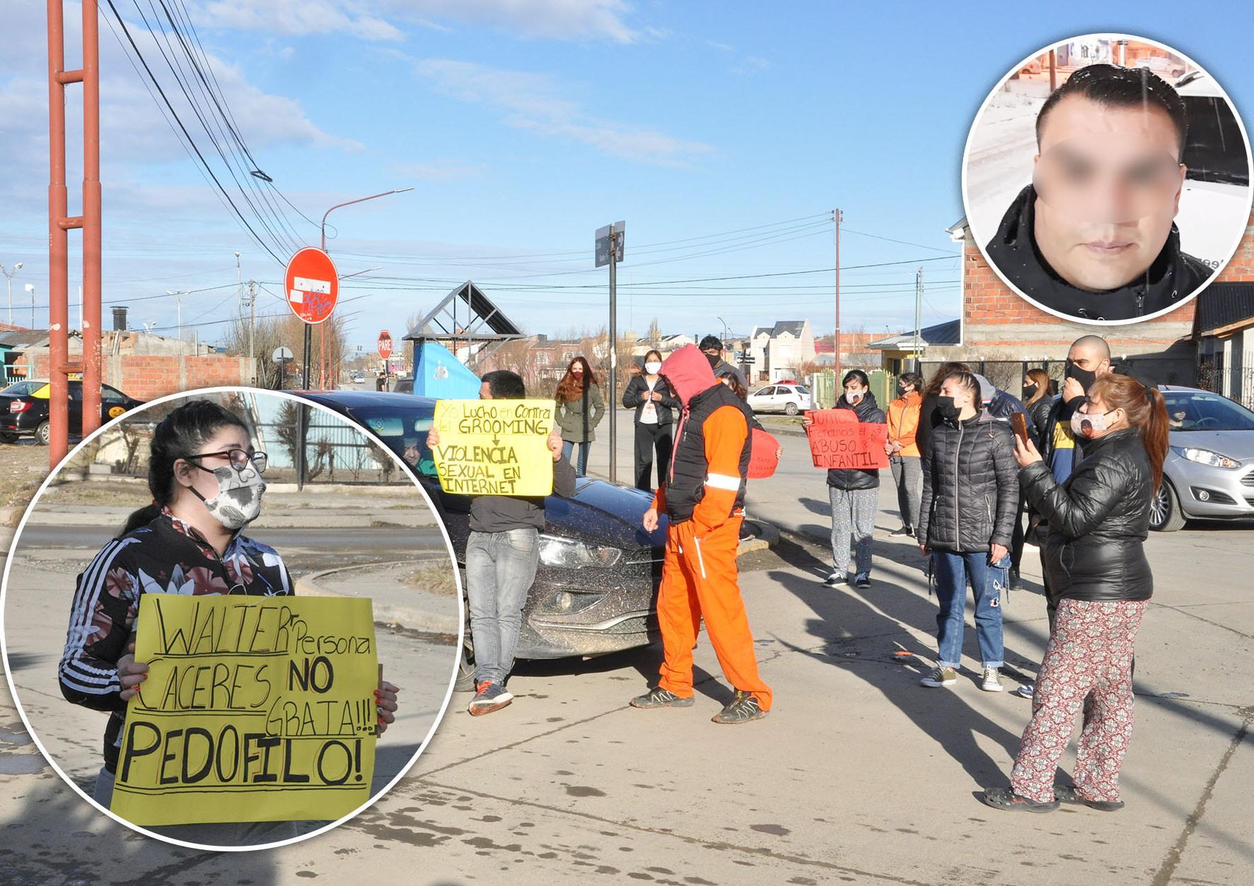 Una de las tantas marchas contra el policía Walter Cáceres.