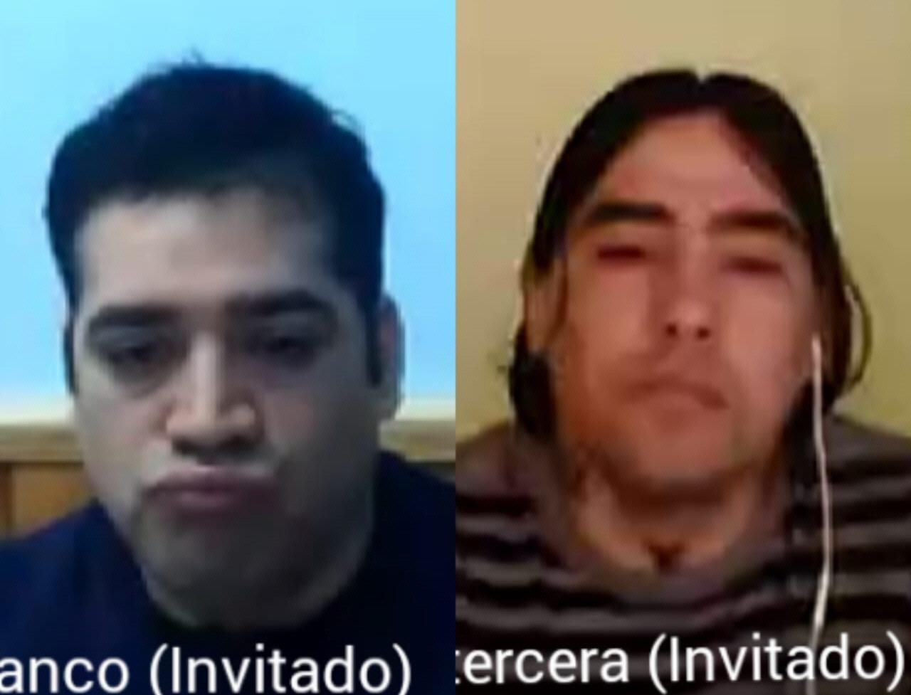 Franco y Horacio Herrera en el debate oral por videoconferencia. FOTO: CAPTURA DE VIDEO