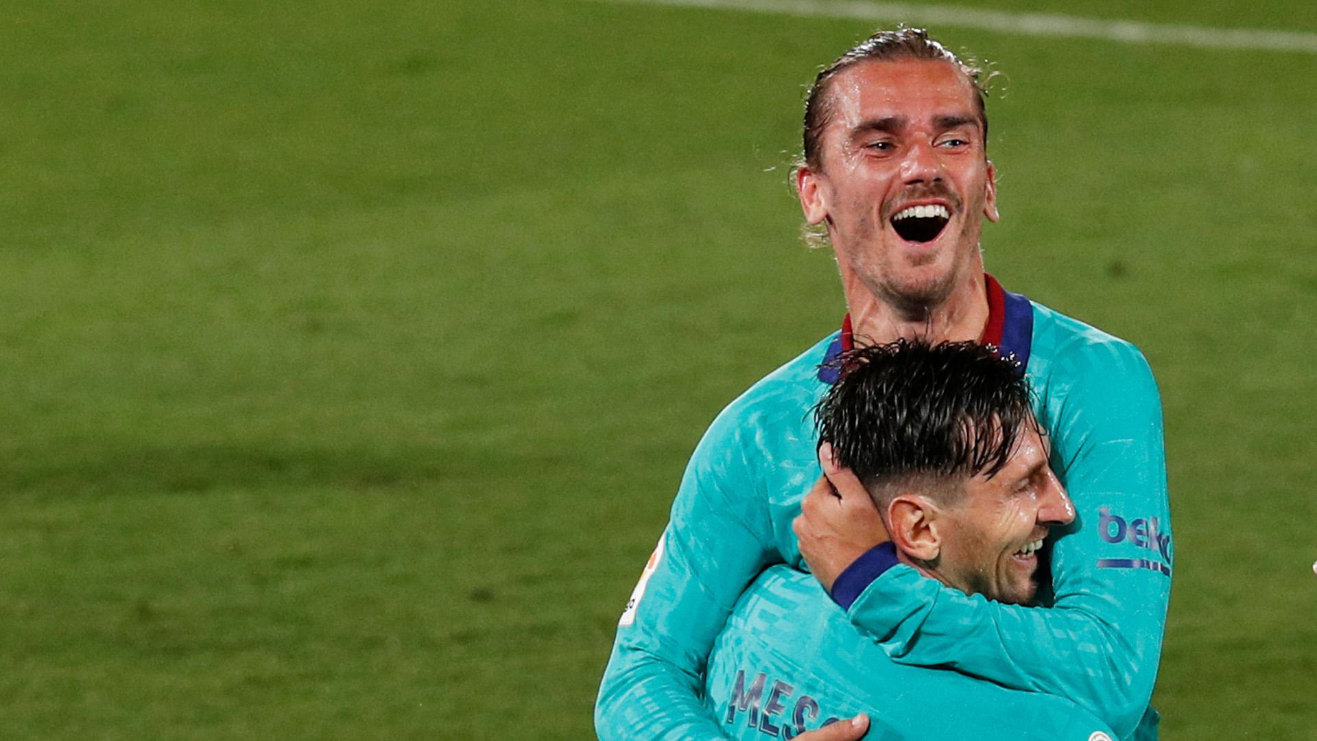 En cancha es otra cosa: Lionel y Antoine demuestran no tener problemas dentro del campo.
