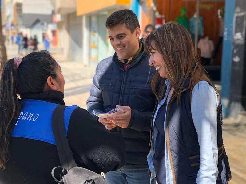 Omar Zeidán y Roxana Reyes en campaña. Elecciones 2019,