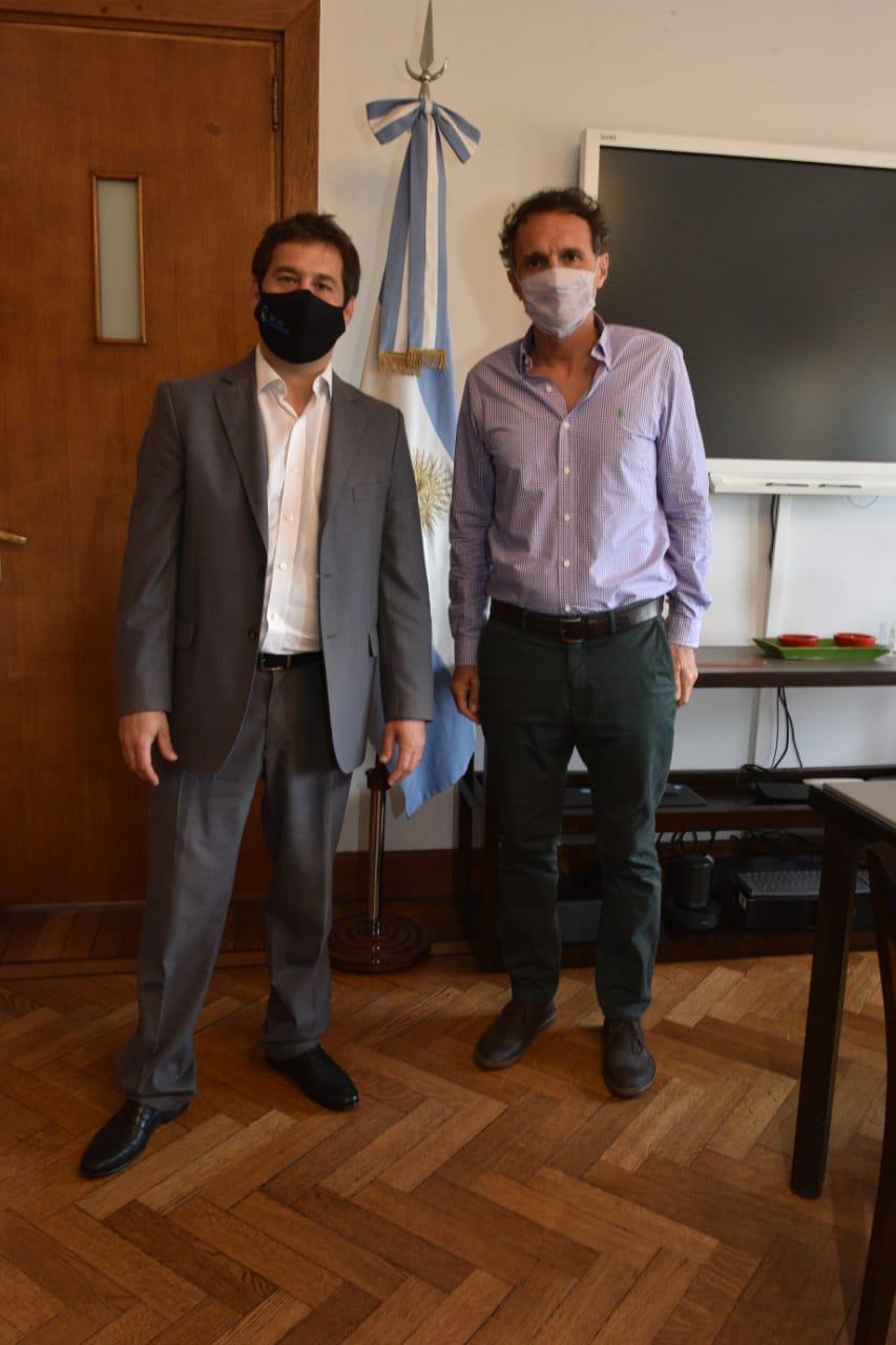 Intendente Juan Pablo Luque y ministro de Obras Públicas Gabriel Katopodis