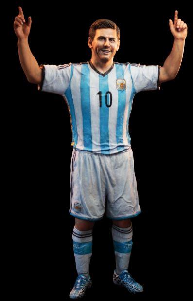 Estatua de Messi. (FOTO: ESTUDIO PUGLIESE)