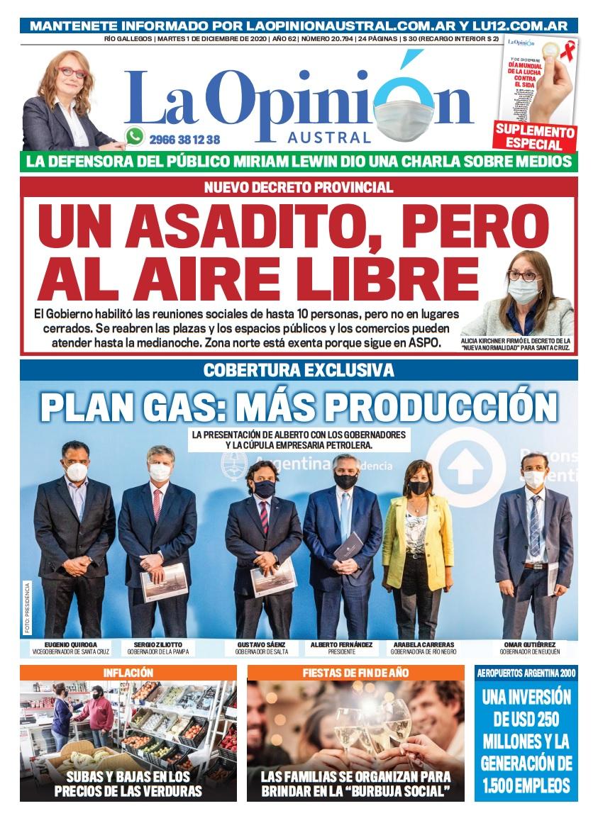 Plan Gas.Ar, cobertura exclusiva de La Opinión Austral.