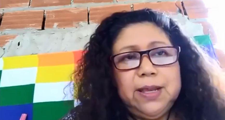 Gabina Ocampo, representante de los pueblos originarios.