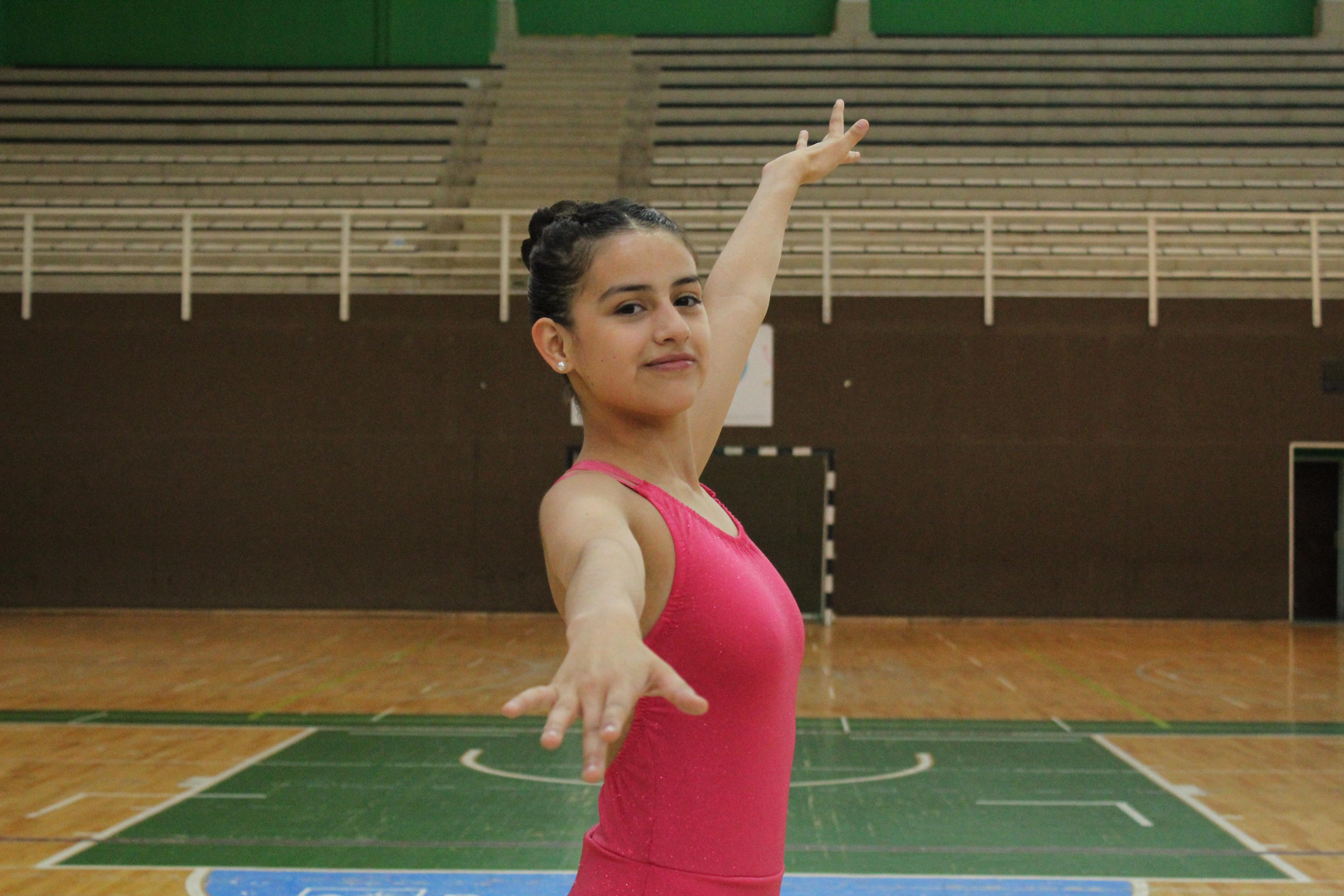Abril Ortega, patinadora de Energy Skate categoría Cadete. FOTO: MATIAS BARRIENTOS