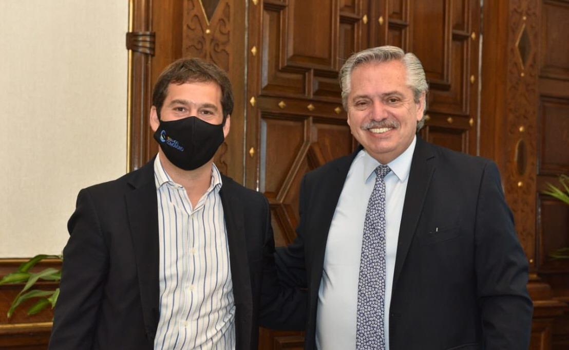 Junto a Alberto Fernández, en su visita a Casa Rosada, a mediados de noviembre. FOTO: TWITTER